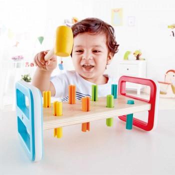 Hape Brinquedo de Martelar Colorido +12M E0506