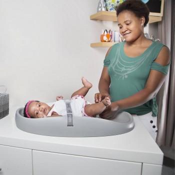 Bumbo Changing Pad Muda Fraldas para Bebés Cinza Claro CMat6022