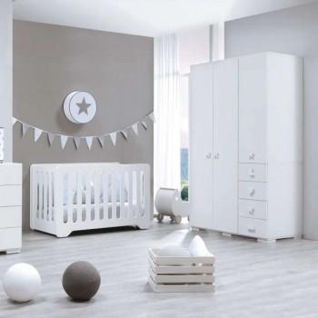 Alondra Armário Infantil Grande 3 Portas Bubble Branco A354G-M7700