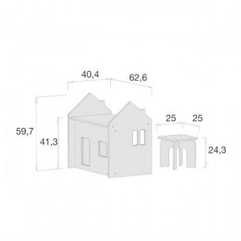 Alondra Conjunto Montessori Mesinha e Cadeira Bege U33MES-7753