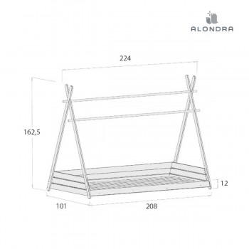 Alondra Estrutura Cama Montessori HOMY XL NA200-M70
