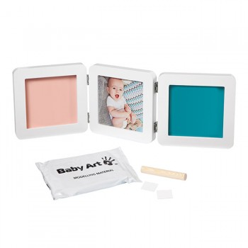 Baby Art Moldura 3 Faces  My Baby Touch Branco