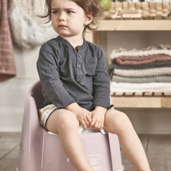 BabyBjörn Bacio Cadeira Rosa Pastel/Branco 055264
