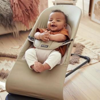 BabyBjörn Espreguiçadeira Balance Soft Algodão Caqui/Bege 005026