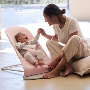 BabyBjörn Espreguiçadeira Balance Soft Algodão Rosa Claro/Cinza 005189