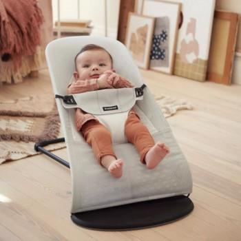 BabyBjörn Espreguiçadeira Balance Soft Mesh Prata Claro/Branco 005029