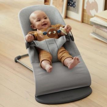 BabyBjörn Pack Espreguiçadeira Bliss 3D Jersey Cinza Claro 606073