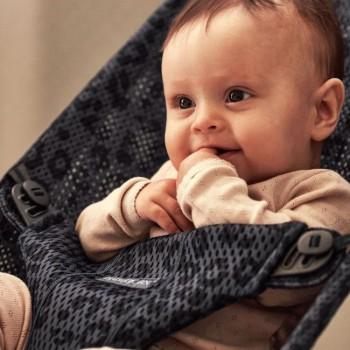 BabyBjörn Espreguiçadeira Bliss e Mochila Mini Antracite/Leopardo 608078