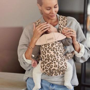 BabyBjörn Porta-Bebé Mini Algodão Bege/Leopardo 021075