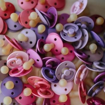 BIBS 2 Chupetas Colours Lavender/Baby Pink 6-18m