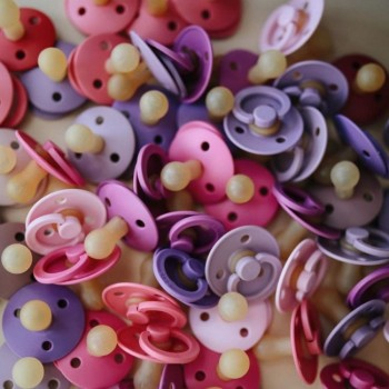 BIBS 2 Chupetas Colours Lavender/Baby Pink 0-6m