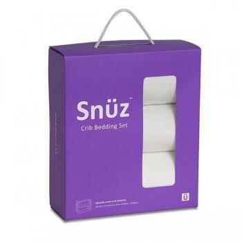 Snüz Conjunto Berço 2 Lençóis Ajust. + Manta Reversível Branco BD015AW