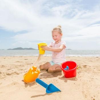 Hape Conjunto de Brinquedos de Praia 5 em 1 +18M E4053