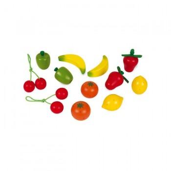 Janod Caixa com 12 Frutas em Madeira +3 Anos J05610