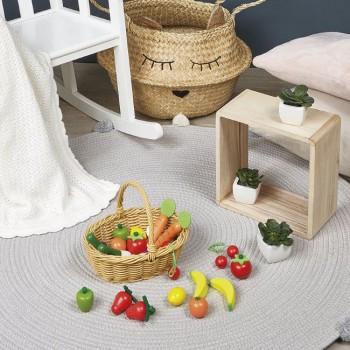 Janod Cesto com 24 Frutas e Legumes +3 Anos J05620