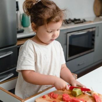KiddiKutter Faca para Crianças Vermelho