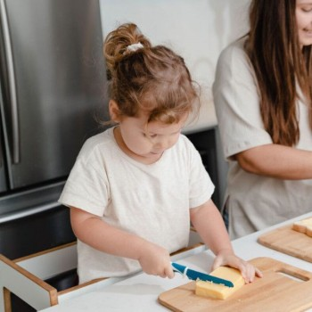 KiddiKutter Faca para Crianças Azul
