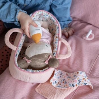Little Dutch Boneca Baby Rosa com Alcofa e Acessórios +12M LD4528