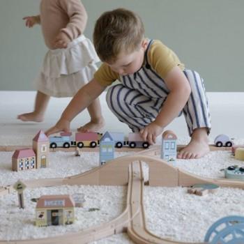 Little Dutch Comboio e Caminho de Ferro XXL Starterkit +3 Anos LD4487