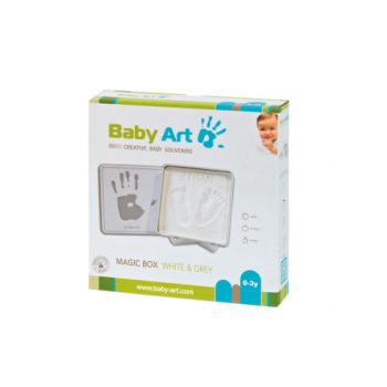 Magic Box White & Grey Baby Art