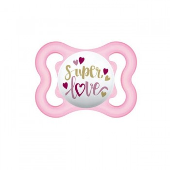 MAM 2 Chupetas Air Silicone 0-6M Happy Thoughts Rosa S116