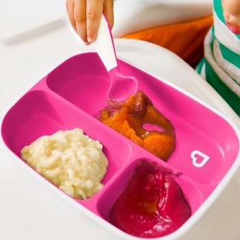 Munchkin 2 Pratos Splash Divisões Roxo e Rosa 012448