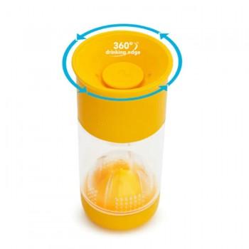 Munchkin Copo Miracle Infusor de Fruta Amarelo 414ml 51784