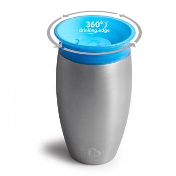 Munchkin Copo Miracle 360º Aço Inox Azul 12370A