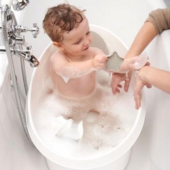 Shnuggle Banheira Ergonómica para Crianças Azul Marinho SHN-STB-WBS