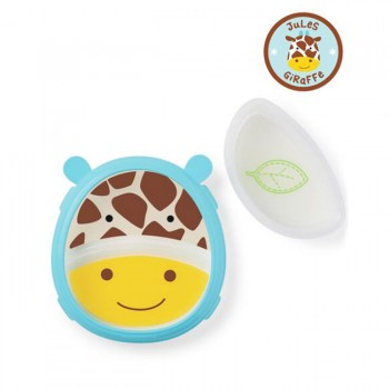 Skip Hop Zoo Smart Serve Prato com Tigela Girafa 3492