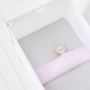 Snüz 2 Lençóis Ajustáveis + Cobertor Berço Rose Spots BD028AC