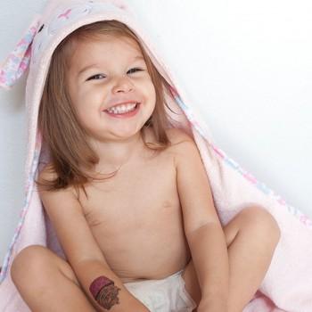 Zoocchini Toalha para Bebé Coelho Rosa 11210
