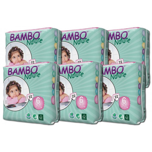 Fraldas Bambo Xl Plus 16-30Kg Pack (6X22)