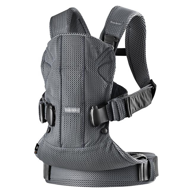 BabyBjörn Porta-Bebé Novo ONE Air Anthracite Mesh