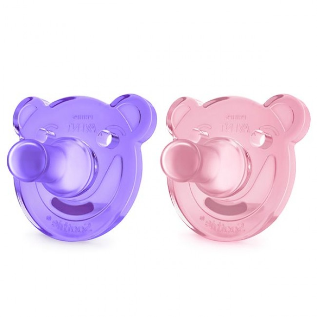 2 Chupeta Soothie Shapes Rosa/Roxo Avent 1