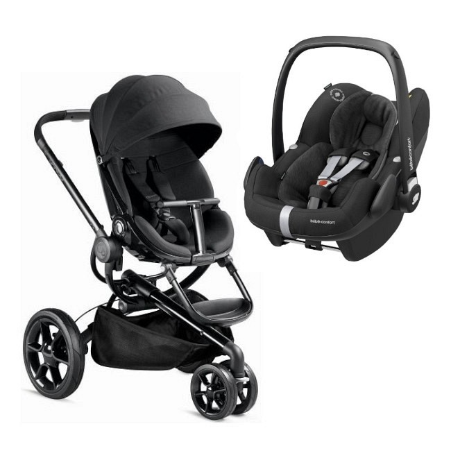 Duo Quinny Moodd Black Devotion + Bébé Confort Pebble Pro Essential Black
