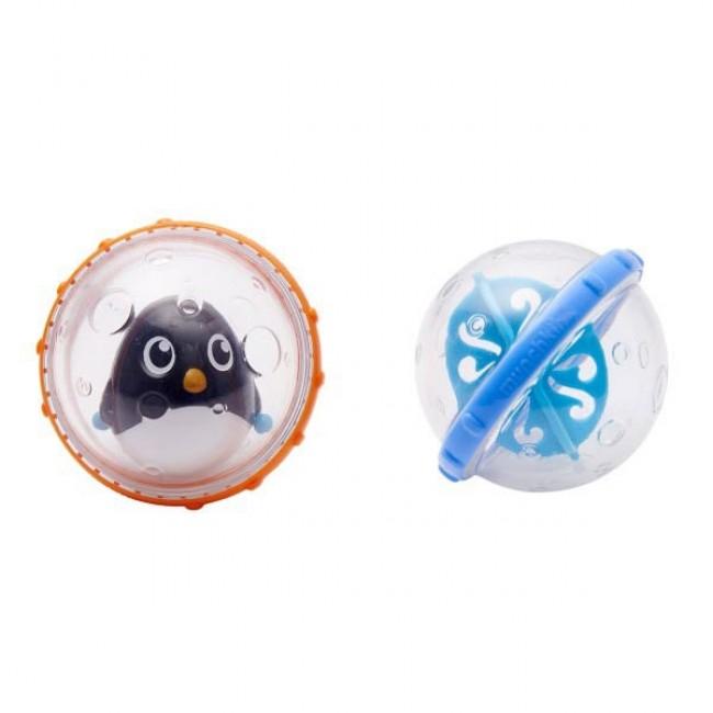 2 Brinquedos de Banho Flutuantes Pinguim Munchkin