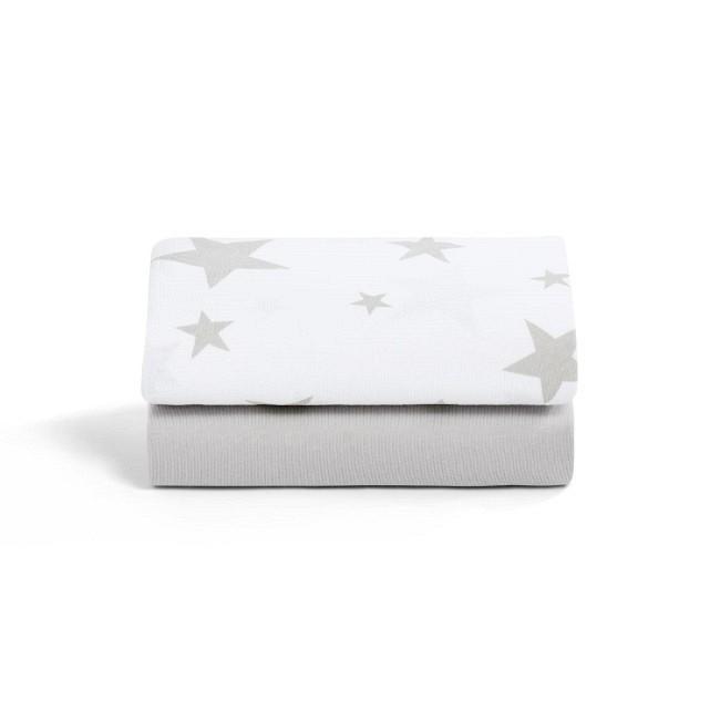 Snüz 2 Lençóis Ajustáveis Berço Grey Star BD028BB