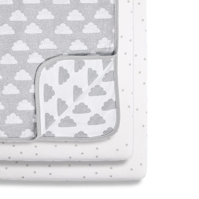 Snüz 2 Lençóis Ajustáveis + Cobertor Berço Cloud Nine BD028AH