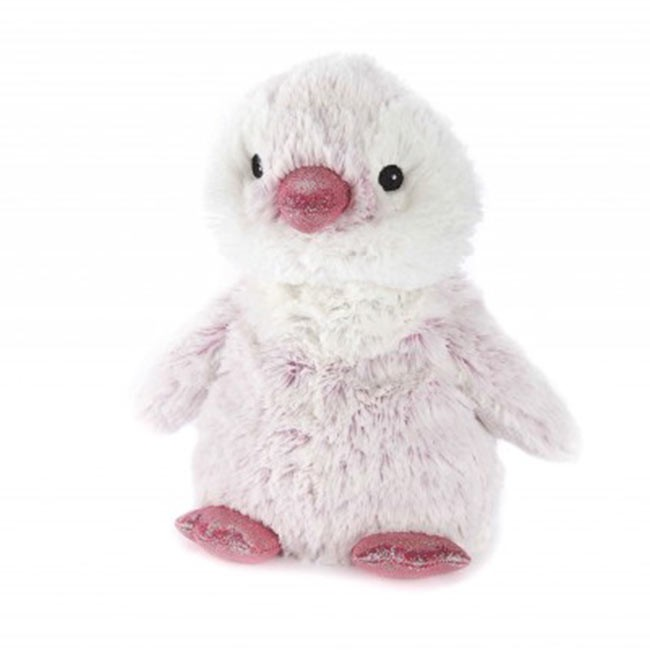 Warmies Plush Pinguim Rosa para Aquecer no Microondas