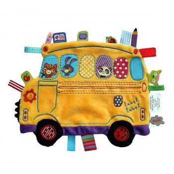 Doudou Holiday Autocarro Amarelo Label Label