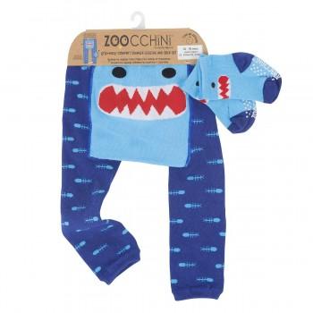 Zoocchini Leggings + Meias Tubarão 12-18 M