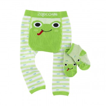 Zoocchini Leggings + Meias Rã 12-18 M