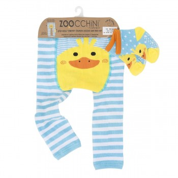 Zoocchini Leggings + Meias Pato 12-18 M