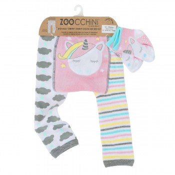 Zoocchini Leggings + Meias Unicórnio 12-18 M