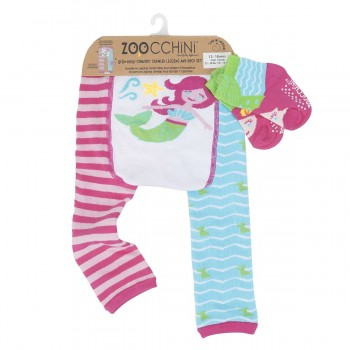 Zoocchini Leggings + Meias Sereia 12-18 M