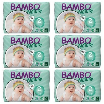 Fraldas Mini Bambo Nature 3-6 kg (Pack 6x30)