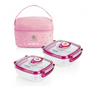Miniland 2 Recipientes Hermifresh Rosa 89249 (