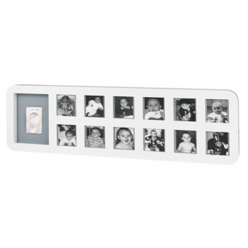 First Year Print Frame White & Grey