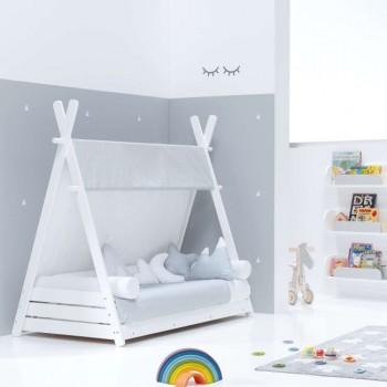 Alondra Pack Cama Montessori 90x200 (apenas inclui  estrutura cama montessori HOMY XL+ edredon + colchão viscoelástica (90x200))
